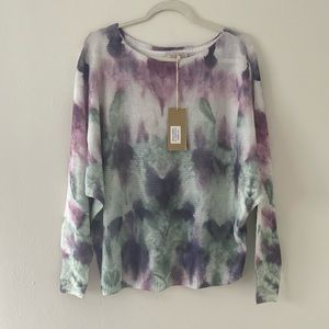 NWT Anna Melani tie dye watercolor sweater